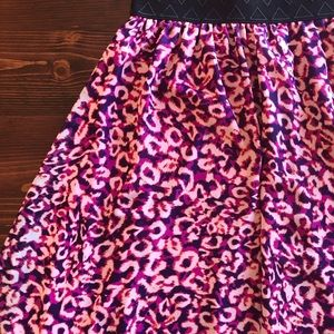 LuLaRoe Cheetah Print Lola Midi Skirt
